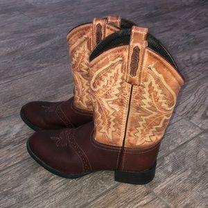OLD WEST 1936 YOUTH COWBOY WESTERN BOOTS~SIZE 3